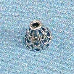 Sterling Silver Bead Caps Cone 1 cm 1.2 gram