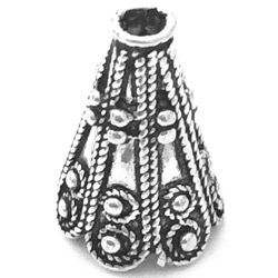 Sterling Silver Bead Cap Cone 2 cm 3.7 gram