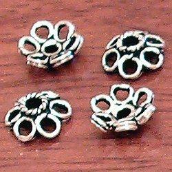 Sterling Silver Bead Cap 9 mm 1 gram