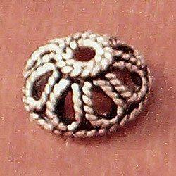 Sterling Silver Bead Caps 1 cm 1.6 gram