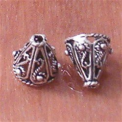 Sterling Silver Bead Caps Cone 9 mm 1.2 gram