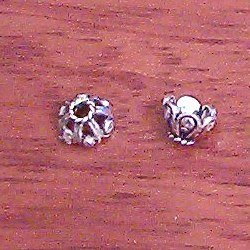 Sterling Silver Bead Cap 7 mm 1.2 gram