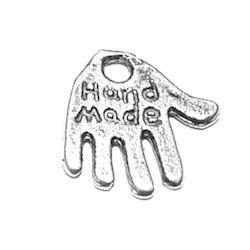 Sterling Silver Charm Hand 12 mm 1.2 gram
