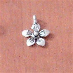 Sterling Silver Charm Petal 12 mm 1 gram