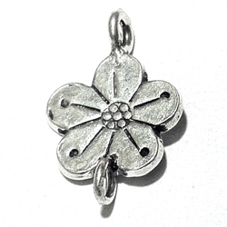 Sterling Silver Charm Flower 20 mm 1.4 gram