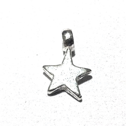 Sterling Silver Charm Star 9 mm 1 gram
