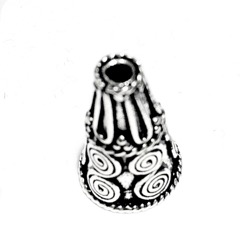 Sterling Silver Bead Cap Cone 18 mm 3 gram