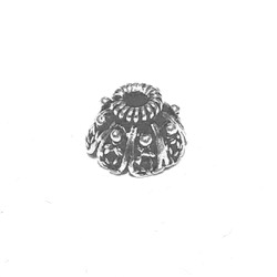 Sterling Silver Bead Cap 9 mm