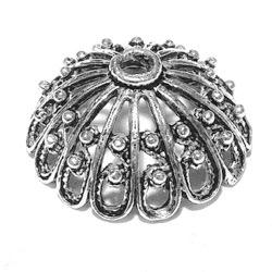 Sterling Silver Bead Cap Cone 18 mm 2.5 gram