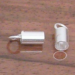 Silver Cord Rope End Fitting 4 mm 1.2 gram
