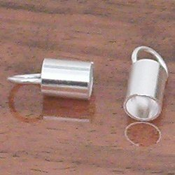 Silver Cord Rope End Fitting 6 mm 1.2 gram