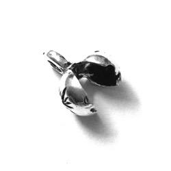 Sterling Silver Charm Knot Holder Crimps 9 mm 1.1 gram