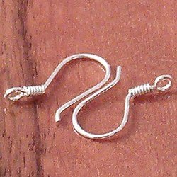 Sterling Silver Fish Hook Blank Earrings 2 cm 1.2 gram