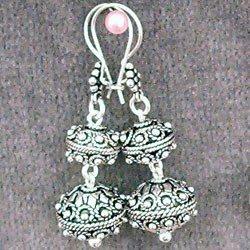 Sterling Silver Dangle Earrings 12 gram 45 mm