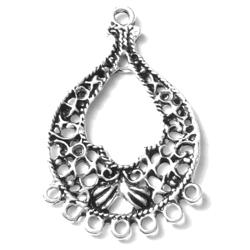 Pair of Telkari Sterling Silver Blank Earrings 37 mm 6 gram