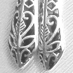 Full Sterling Silver Dangle Earrings 6 cm 6.4 gram
