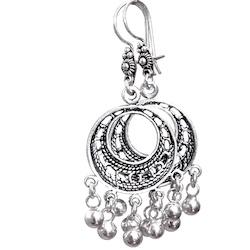 Full Sterling Silver Dangle Earrings 6 cm 9.2 gram