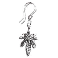 Full Sterling Silver Dangle Earrings 43 mm 3.6 gram