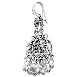 Full Sterling Silver Dangle Earrings 55 mm 8.4 gram