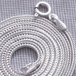 20 inch Silver Chain Fox Tail 1.5 mm 5 gram w/clasp