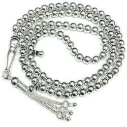 Islamic Prayer Beads Full Silver 99 Tasbih 5 mm 26 gram