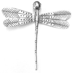 Sterling Silver Charm Pendant Giant Dragonfly 8x8 cm
