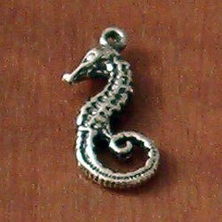 Sterling Silver Charm Sea Horse 21 mm 1.3 gram