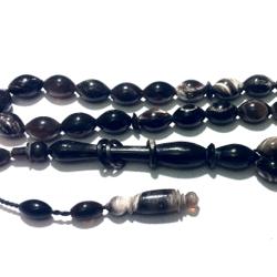 Islamic Prayer Beads Tasbih Buffalo Horn 9 mm oval