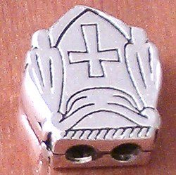 Priest Bead For Greek Komboloi Turkish Sterling Silver 6 gram 17 mm