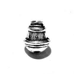Sterling Silver Short Imame for Tasbih 13 mm 2.8 gram