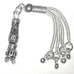 Sterling silver tasbih top imame and tassel for 5-7 mm 75 mm
