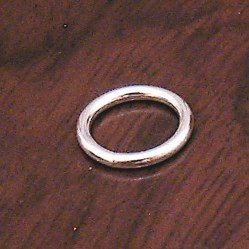 Sterling Silver Closed Jump Ring 15 mm 1.2 gram