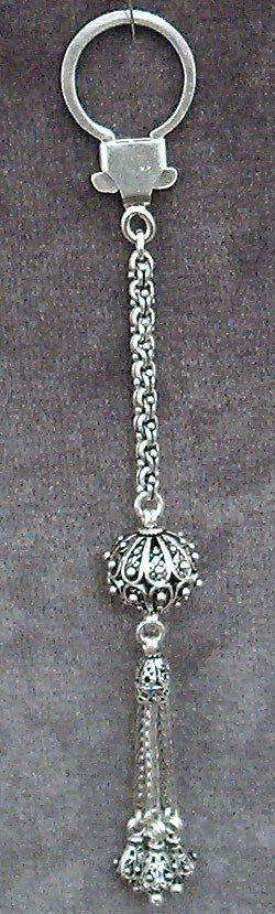 Full Sterling Silver Keychain Keyring 21 gram 16.5 cm