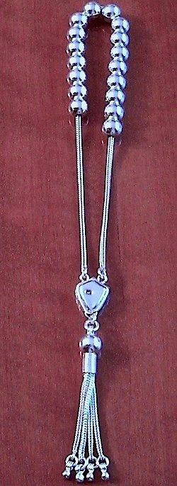 Greek Komboloi Full Sterling Silver 21 gr 8 mm 20 cm
