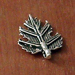 Sterling Silver Charm Leaf 19 mm 1.2 gram