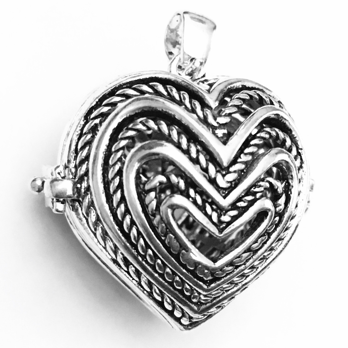 Turkish Sterling Silver Perfume Diffuser Locket 25 mm