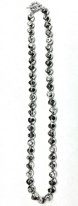 Full Sterling Silver Hammered Necklace 10 mm 54 gram 48 cm
