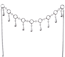 Full Sterling Silver Charm Necklace 20 gram 50 cm