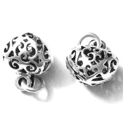 Sterling Silver Heart Charm 1 cm 1.35 gram