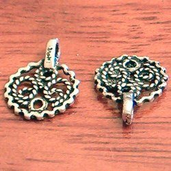 Sterling Silver Charm Telkari 1 cm 1 gram