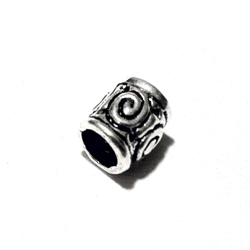 Sterling Silver Rondelle Bead Spacer 6.5x6 mm 1.4 gram