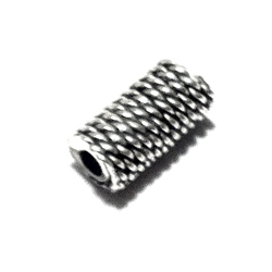 Sterling Silver Rondelle Bead Spacer 8x4 mm 1.4 gram
