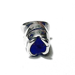 Sterling Silver Fish Rondelle Bead Spacer 10 mm 1.9 gram