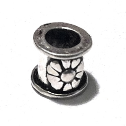 Sterling Silver Rondelle Bead Spacer 8x7 mm 1.1 gram