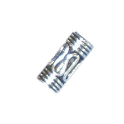 Sterling Silver Tubular Bead 9x4 mm 1.6 gram