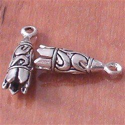 Sterling Silver Bead Rope End 2 cm 1.7 gram