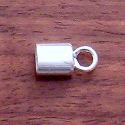 Sterling Silver Cord Rope End Oblate Fitting 6 mm 1.4 gram