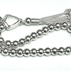 Islamic Prayer Beads Full Silver Tasbih 6 mm 16 gram