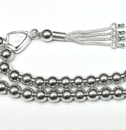 Islamic Prayer Beads Full Silver Tasbih 7 mm 22 gram