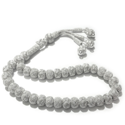 Turkish Pure Silver Mesh Islamic Prayer Beads Tasbih 27 gram